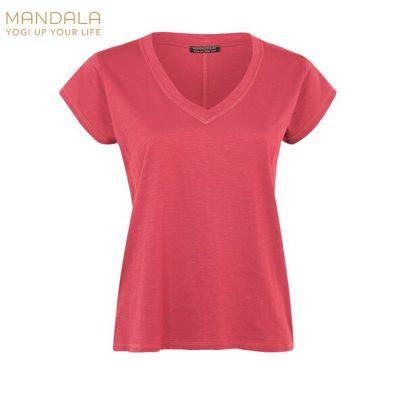 Mandala Fashion Yoga Shirt Easy V-Neck