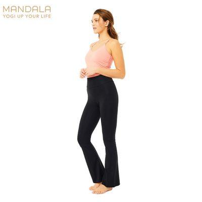 Mandala Fashion Flared Pants Black