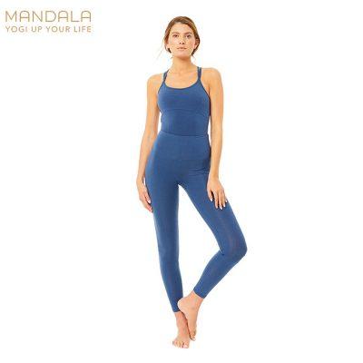 Mandala Fashion High Rise Basic Legging Blue
