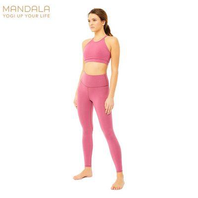 Mandala Fashion High Rise Basic Legging Rose