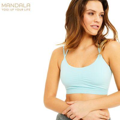 Mandala Fashion Slim Studio Bra Aqua