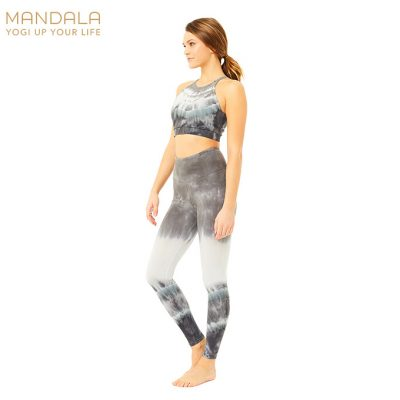 Mandala Fashion Tie Dye Legging Grey