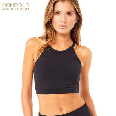 Mandala Fashion Halterneck Bra schwarz