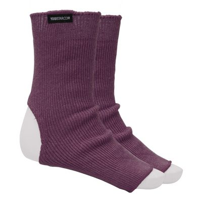 Yoga Socke Wolle Elderberry