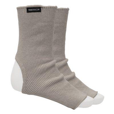 Yoga Socke Wolle Stone Grey