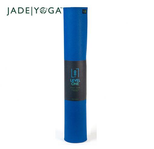 JadeYoga Level One Beginner Mat Classic Blue