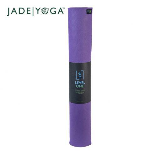 JadeYoga Level One Beginner Mat Classic Purple