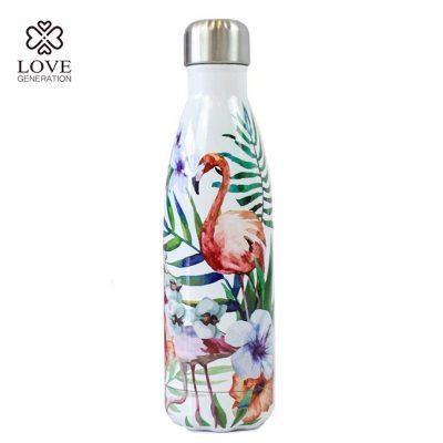 Love Generation Trank Flasche Isoliert Flamingo