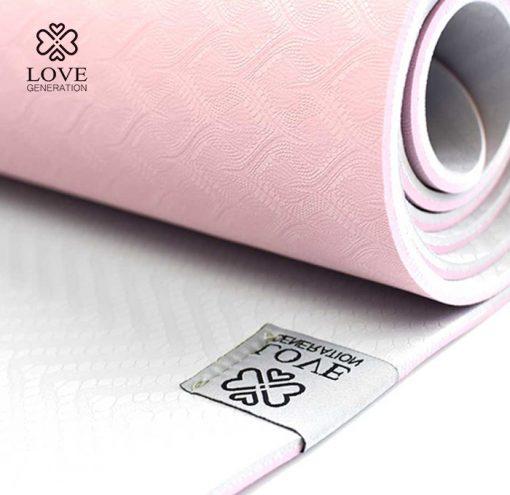 Love Generation Eco TPE Yogamatte Precious Pink Detail