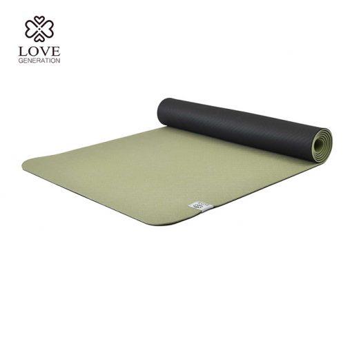 Love Generation Eco TPE Yogamatte Goddess Green