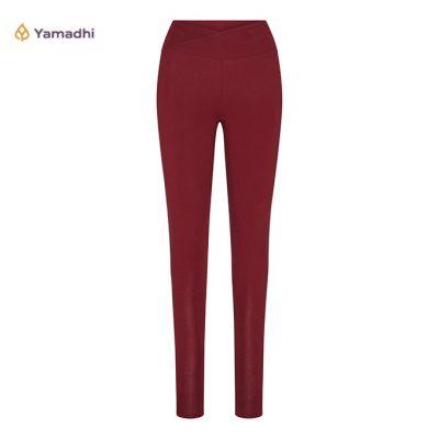 Yamadhi Crossed Waist Yoga Legging burgundy
